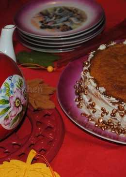 Sponge cake with Nutella butter cream
