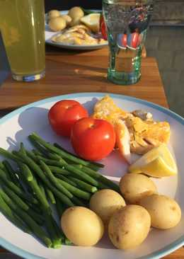Healthy smoked haddock dinner