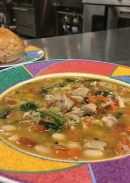 Italian Chicken Vegetable Bean Soup