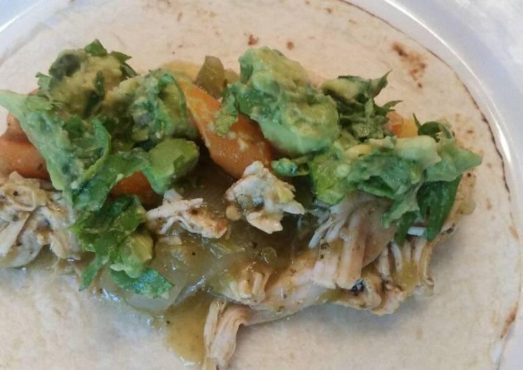 Tomatillo Braised Turkey Tacos