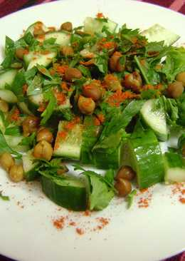 Cucumber Salad with Chickpeas & Parsley