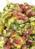 Zucchini & Ham Scramble