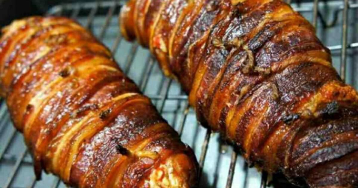 Bacon Wrapped Chicken Breast w/ Honey Mustard Glaze Recipe by DBest ...