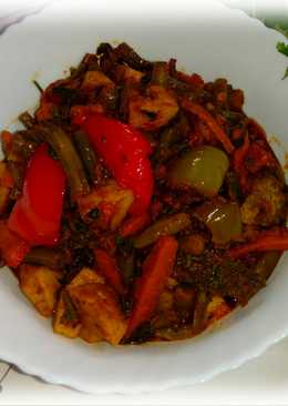 #mixed dry vegetables curry