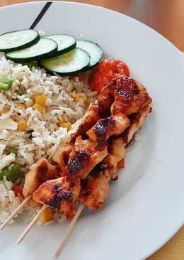 Grill Chicken Satay n' Fried Rice