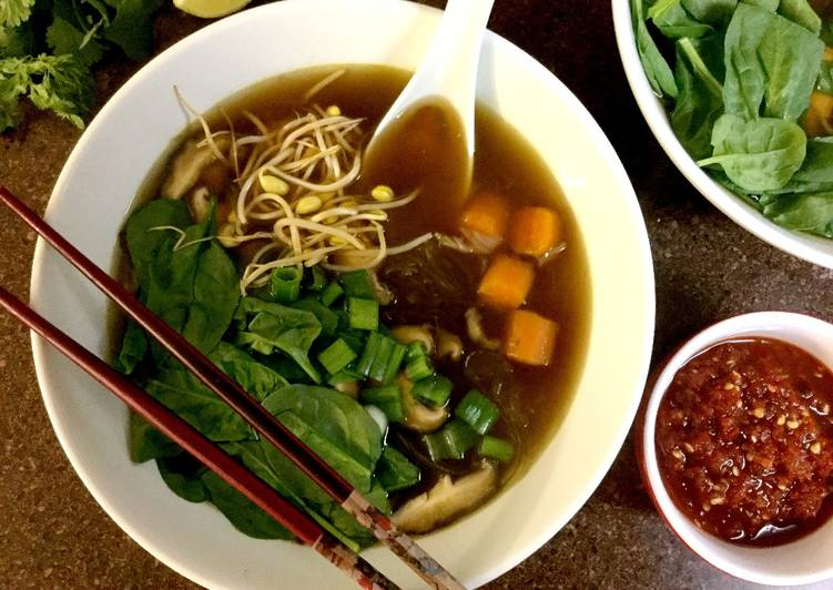 Vegetarian Pho (Vietnamese Noodle Soup) Recipe by Vanitha