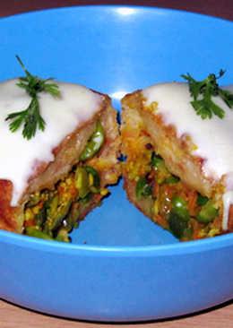 Veggies bread roll