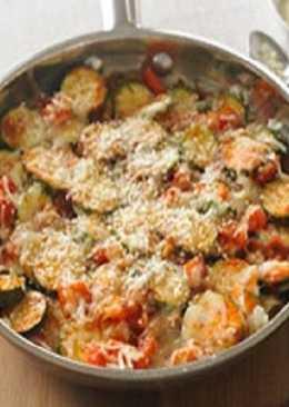 Stovetop Zucchimi Parmesan