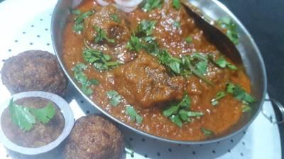 Louki kofta curry (red gravy)