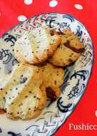Coconut Oil Biscuits with Chia Seeds and Chocolate
