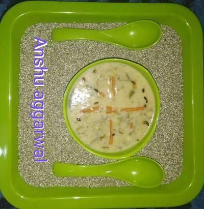 Bajra palak soup