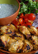 Tandoori Chicken with Mint Yoghurt Dip