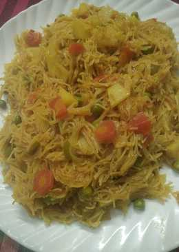 Vegetables vermicelli pulao