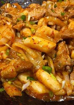 Ddukbokki with Pork & Kimchi