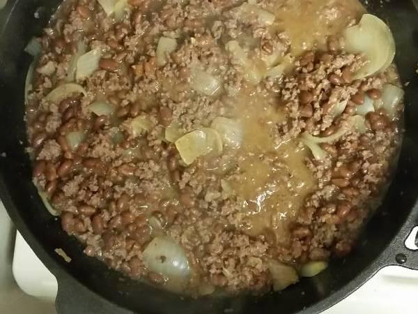 Hamburger, Beans, & Onions