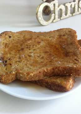 Vanilla Eggnog French toast