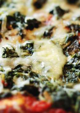 Whole wheat spinach pizza