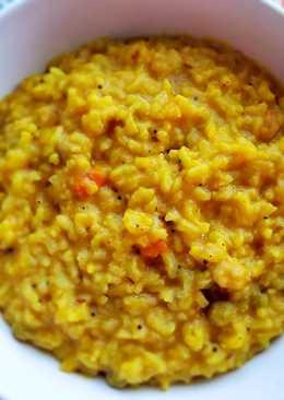 Vegetarian Rice Lentil Porridge in one pot