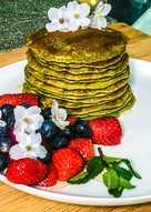 Gluten Free low-fat Matcha Pancakes