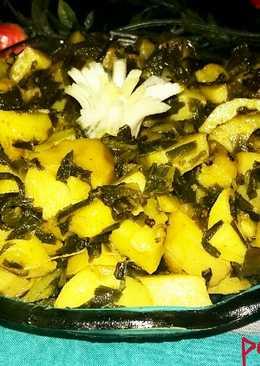 Aloo pyaz ki sabji (spring onion)