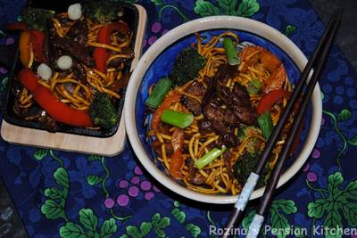 Chinese beef chow-mein