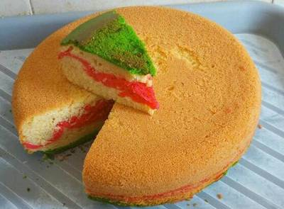 Coloured plain cake