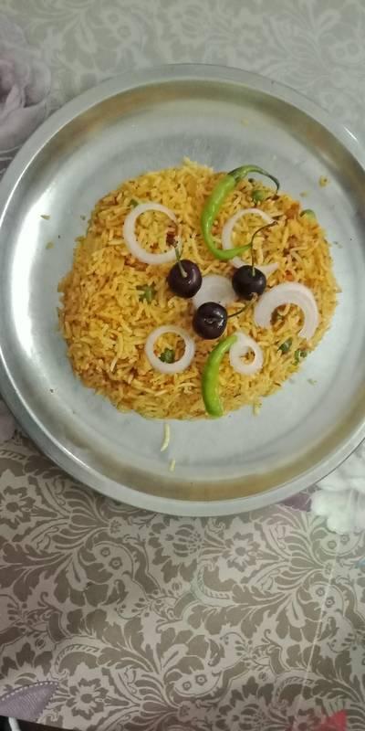 Tawa rice paav bhaji masala