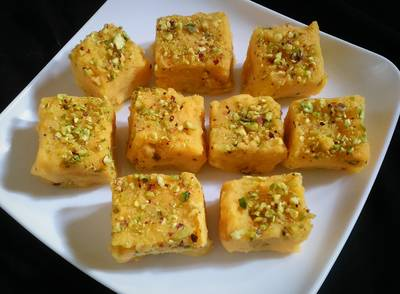 Sweet potato and kiwi kalakand