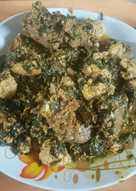 Egusi soup with moringa leaves
