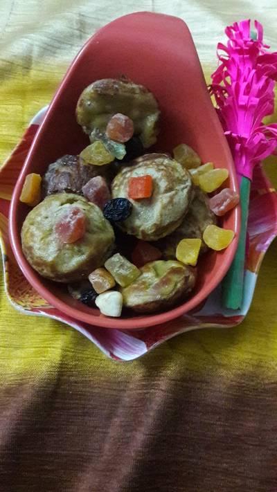 Wheat flour mango muffins in Appe pan