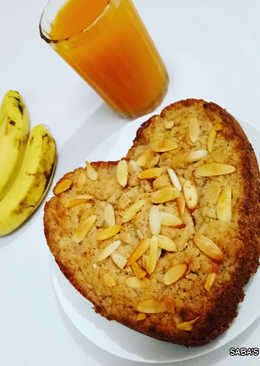 Eggless Whole Wheat Banana Cake (without oven)