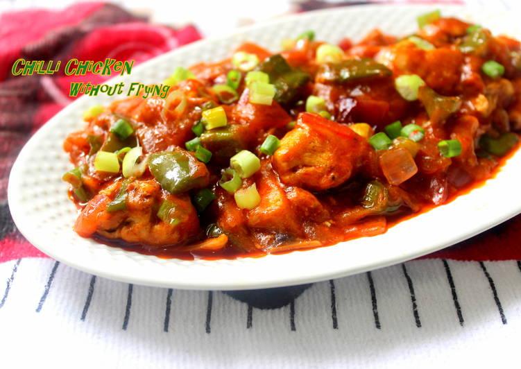 Chilli Chicken Healthy No Fry Recipe