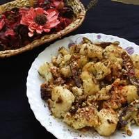 Roasted Cauliflower and Nut Salad