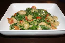 Gnocchi with Young Green and Red Tomato Sauce