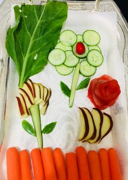 Fruits vegetables salad