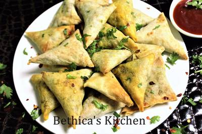 Baked Chicken Samosa
