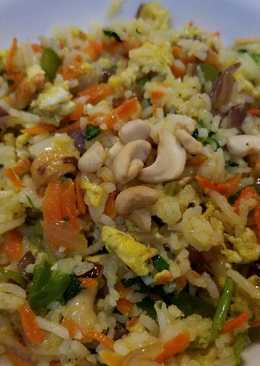 Egg & vegetable stir fried rice