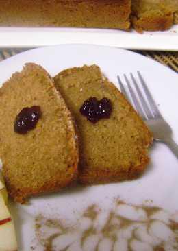 Eggless Apple Loaf Cake