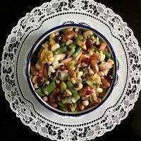 Zesty Three-Bean Salad with Walnuts and Pomegranates