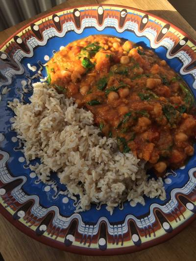 Sweet potato peanut curry