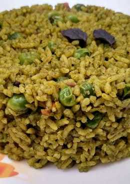 Spinach and Green Peas Pulao