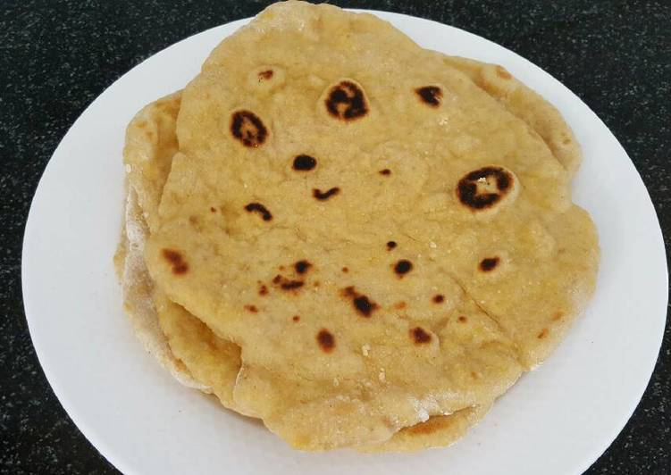 Flat bread / roti with sourdough starter and carrot
