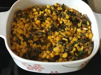 Corn Patra (Colocasia) curry