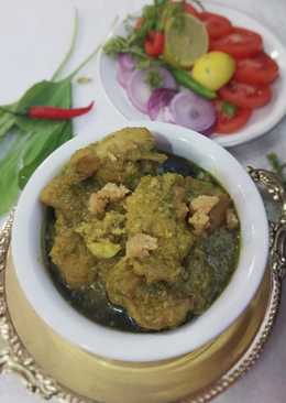 #chicken (Hariyali Khoya Chicken)
