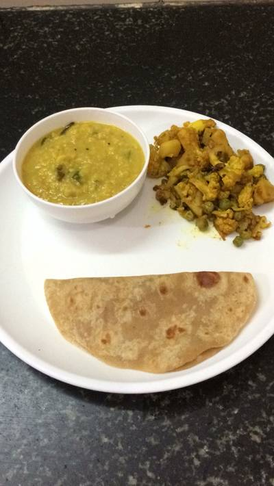 Platter of Dhal and Subji