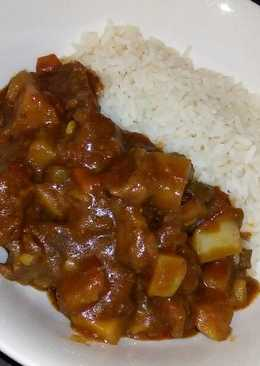 Rice and vegetable beef stew