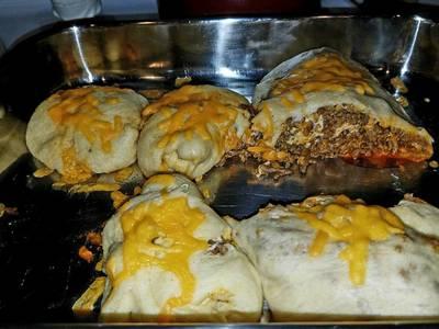 Taco stuffed Cresent Rolls