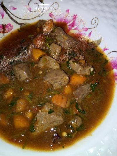 Stewed Liver for Supper