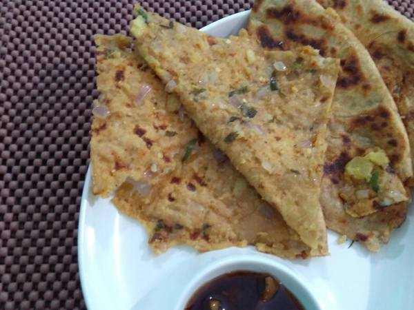 Potato-onion Paratha
