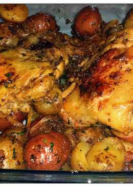 Lemon Herb roasted chicken and potatoes